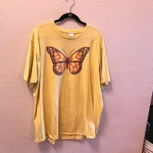 Monarch Buttery Yellow Graphic Tee